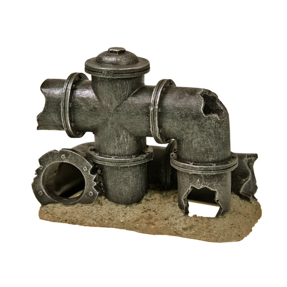 Blue Ribbon Exotic Environments Broken Pipes Tank Accessory