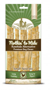 Fieldcrest Farms Nothin' to Hide Small Twist Stix Chicken Dog Chews