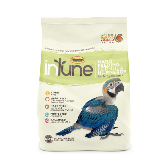 Higgins inTune Hand Feeding Formula High Energy Baby Bird Food