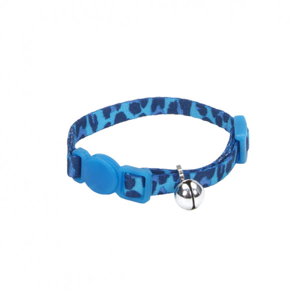 Coastal Pet Products Lil Pals Adjustable Breakaway Kitten Collar Blue Leopard