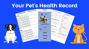 Pet Pocket Health Record w/FREE Emergency Notification Decal