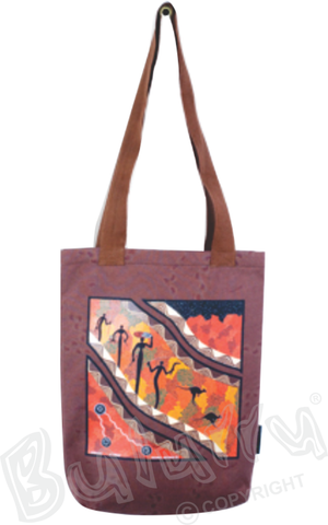 Songlines Tote Bag Brown Or Black