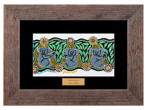 Bulurru Aboriginal Art Canvas Print - Bush Koala By Susan Betts