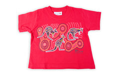 T Shirt Child - Vikkiland Kangaroo Red Design