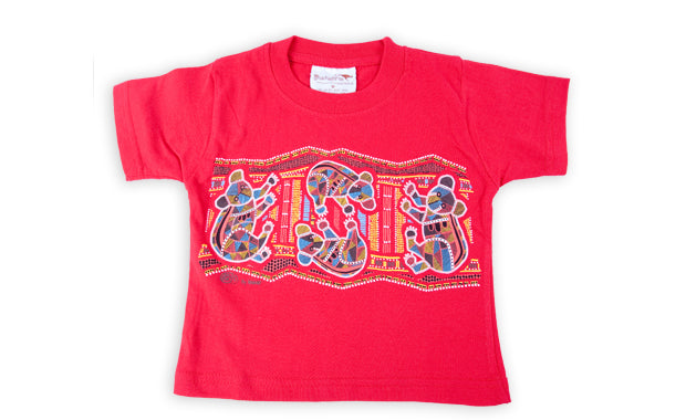 T Shirt Child - Vikkiland Koala Red Design