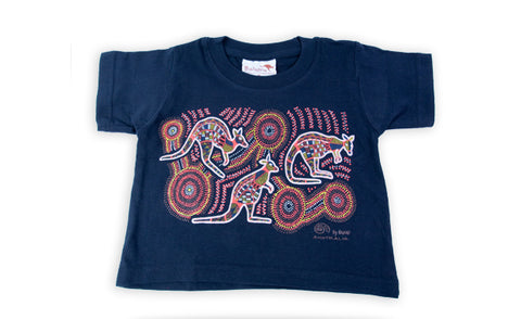 T Shirt Child - Vikkiland Kangaroo Navy Design