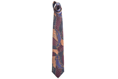 Crocodile Dreaming Purple Silk Tie