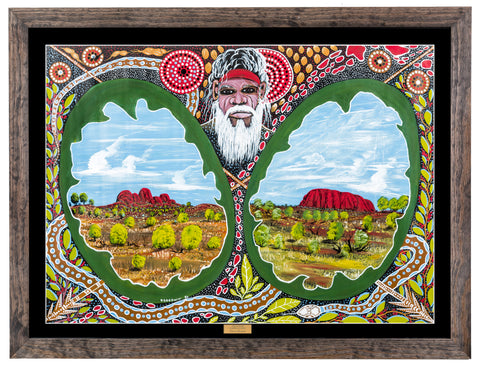 Bulurru Aboriginal Art Canvas Print - Dreamtime Uluru & Olgas By Daniel Goodwin
