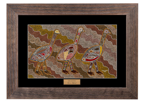Bulurru Aboriginal Art Canvas Print - Emu Mating By Lorni Hyland