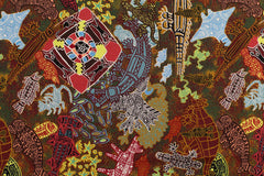 Heart Of My People Aboriginal Pattern Fabric Per Metre