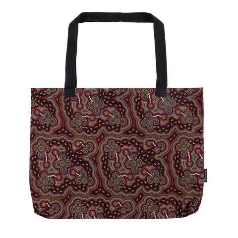 On Walkabout Wine Large Tote Bag