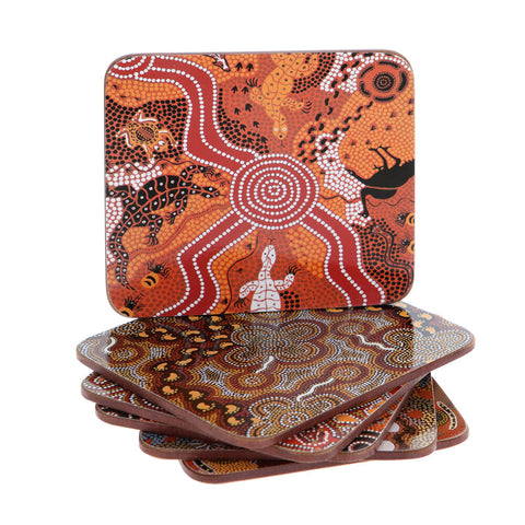 Aboriginal Assorted Coasters Set Of 6