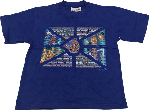 CLEARANCE T Shirt Child - Balance Of Nature Blue