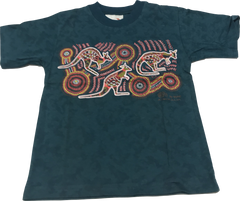 CLEARANCE T Shirt Child - Vikki Kangaroo Teal