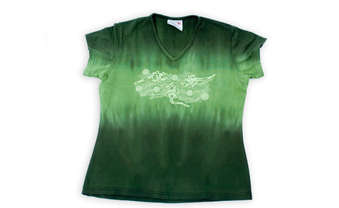 T Shirts Ladies - Vikkiland Goanna Design