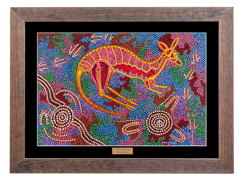 Bulurru Aboriginal Art Canvas Print - Marloo Dreaming By Daniel Goodwin