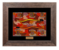 Bulurru Aboriginal Art Canvas Print - Men's Ceremony By Peter Marshall