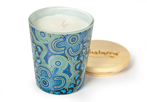 Bulurru Soy Candle On Walkabout Blue Lime & Coconut