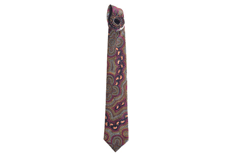 On Walkabout Black Silk Tie