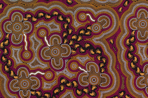 On Walkabout Aboriginal Pattern Fabric Per Metre