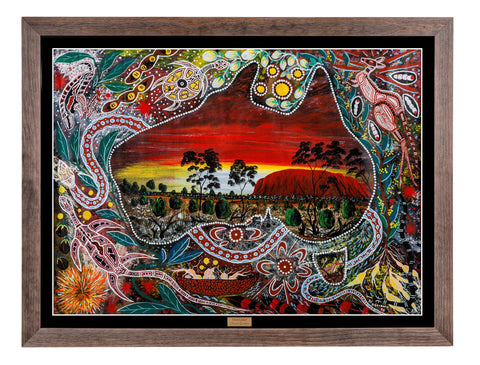 Bulurru Aboriginal Art Canvas Print - Our Land By Daniel Goodwin