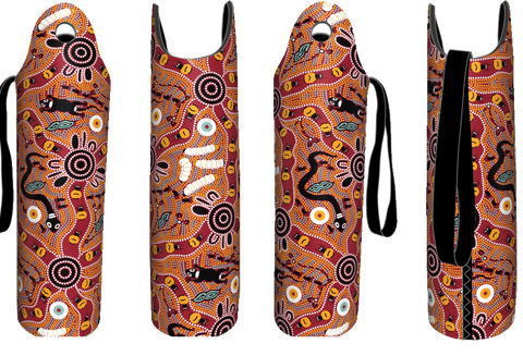 Bulurru Aboriginal Design Wine Bottle Cooler - 9 Designs to choose from