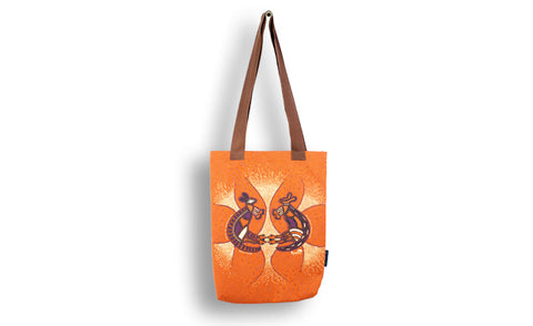 Warrior Dreaming Tote Bag Black Or Tan