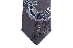 Warrior Dreaming Grey Silk Tie