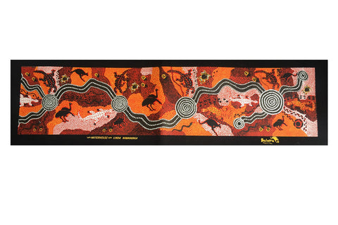 Waterhole Dreaming Strip Art Panel (2 Colours To Choose From)