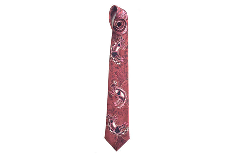 Warrior Dreaming Wine Silk Tie
