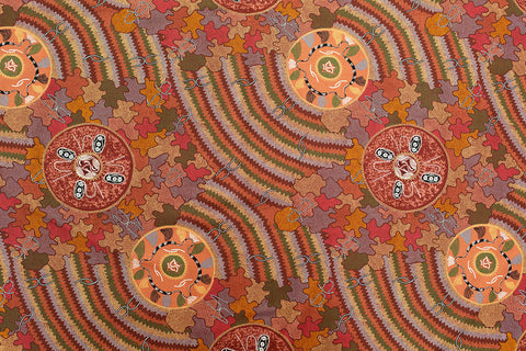Women's Corroboree Aboriginal Pattern Fabric Per Metre