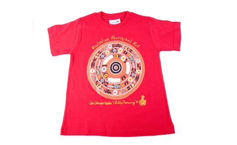 T Shirt Child - Child's Dreaming Red Design