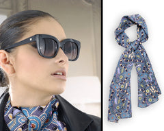 Bush Tucker Blue Scarf Long