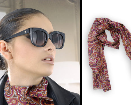On Walkabout Wine Scarf Long