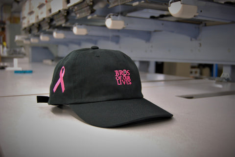 Black Breast Cancer Bro Hat