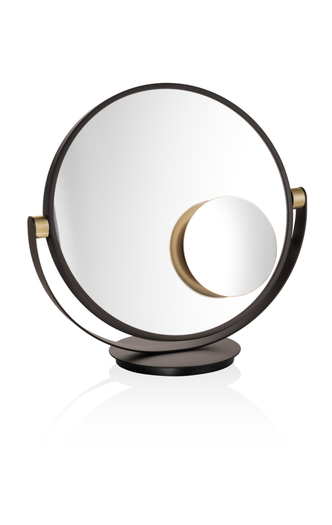 Vanity Table Mirror - Dark Bronze / Matte Gold