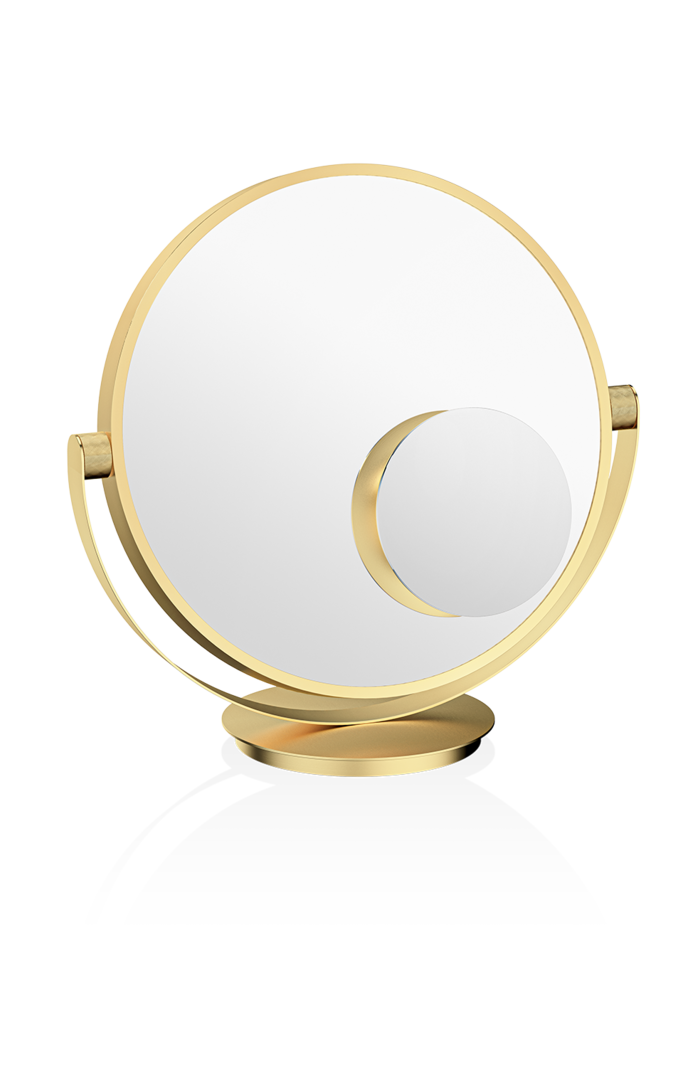 Vanity Table Mirror - Matte Gold