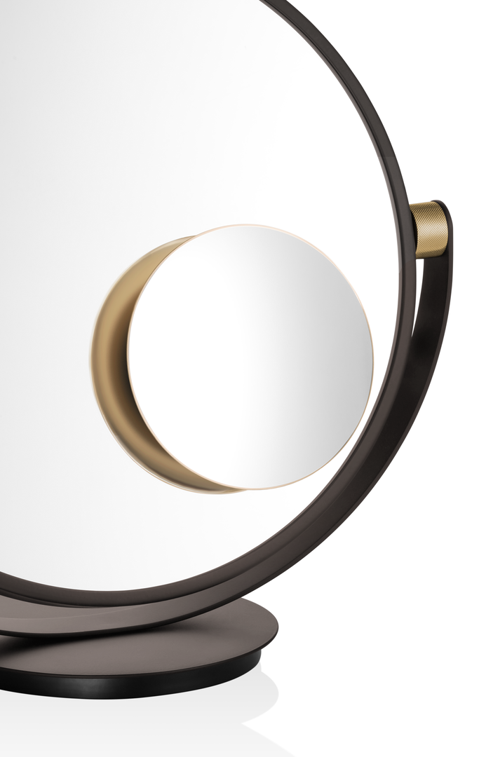 Vanity - Additional Plug Mirror 5x Magnification - Matte Gold