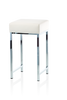 Stool for the Bathroom DW64 - Chrome / White