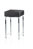 Stool for the Bathroom DW64 - Chrome / Black