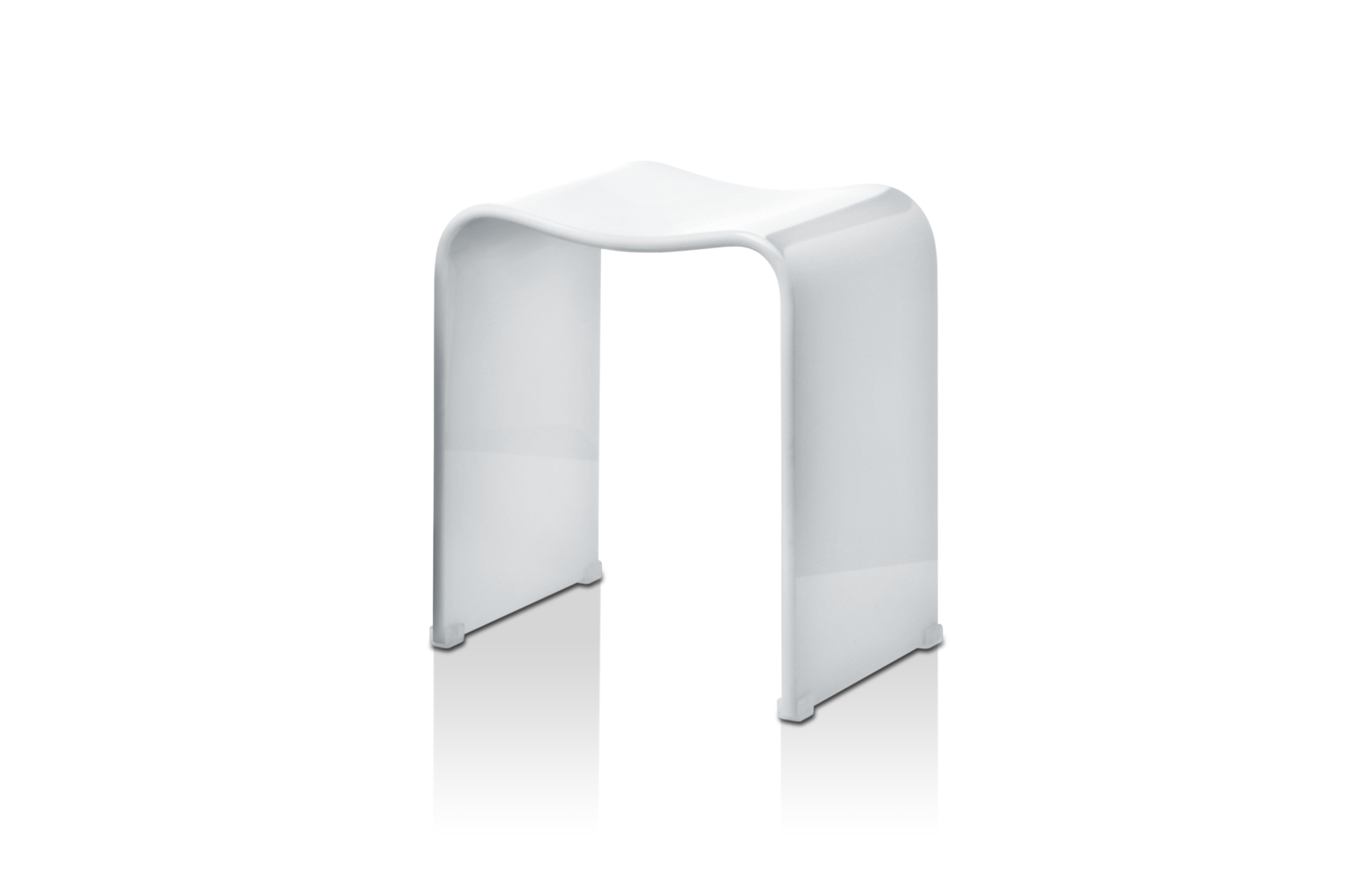Stool for the bathroom White