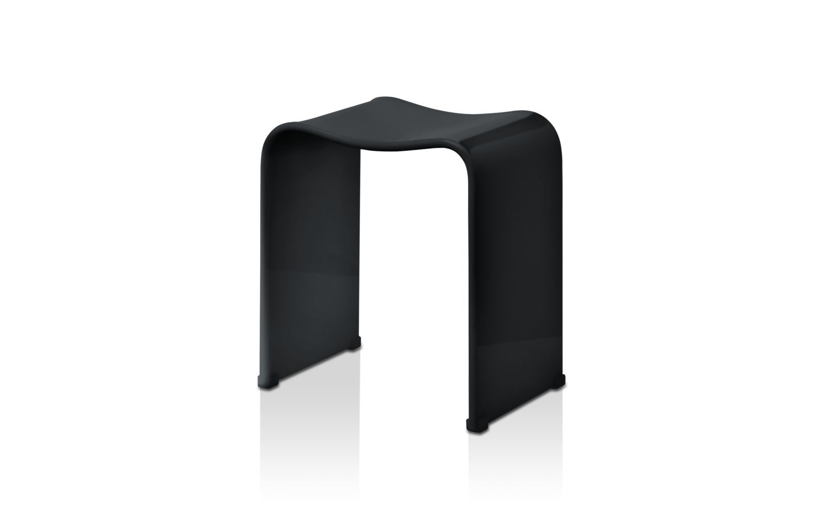 Stool for the bathroom Black