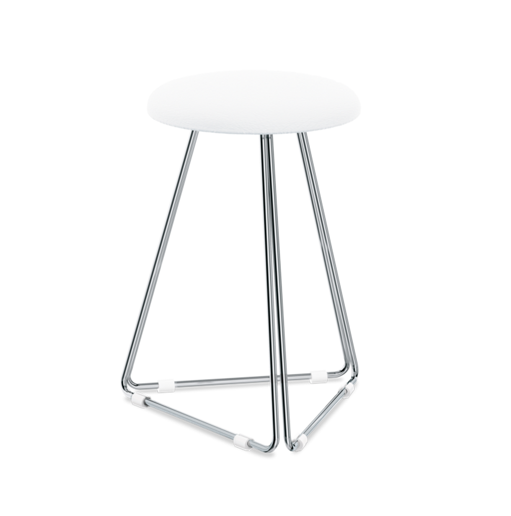Stool DW71 - Chrome / White