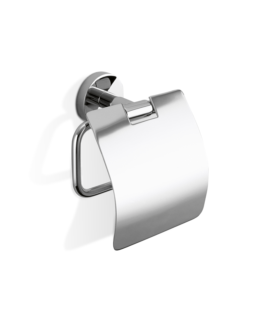Basic Toilet Paper Holder + Cover TPH4 - Chrome