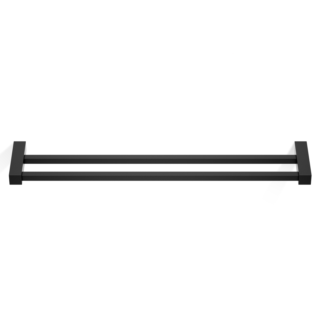Corner Double Towel Rail HTD60 - Matte Black