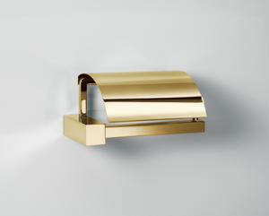 Corner Toilet Paper Holder with Lid Fixed TPH4 - Gold