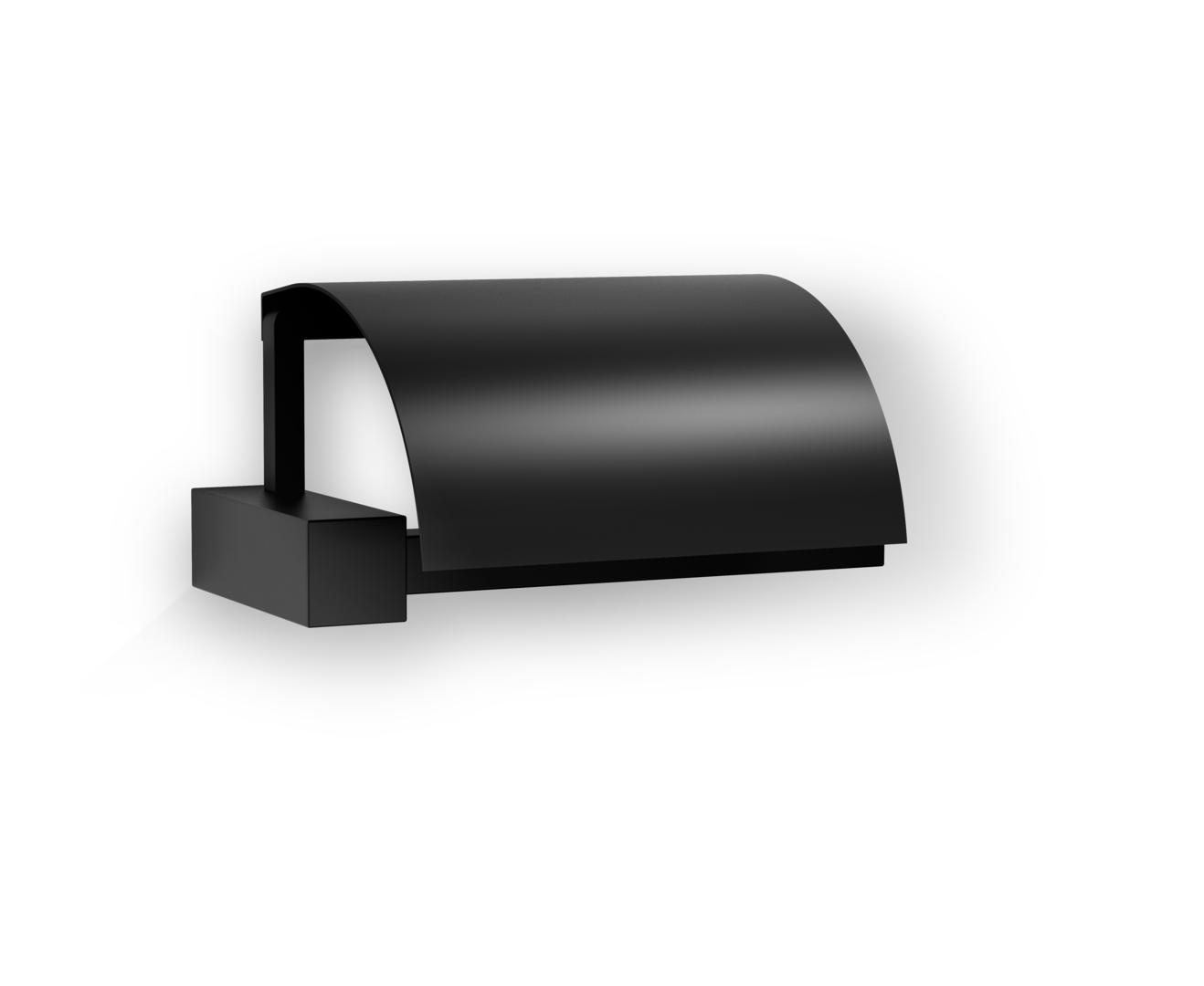 Corner Toilet Paper Holder with Lid Fixed TPH4 - Matte Black