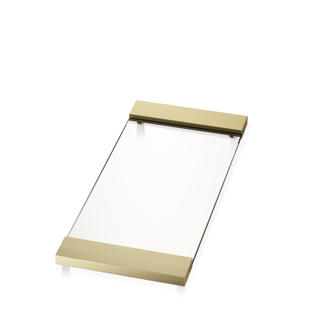 Tray TAB37 Matte Gold / Clear Glass 37x17cm