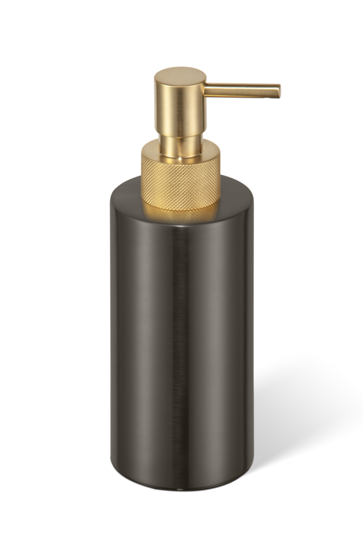 Soap dispenser Club SSP3 dark bronze / matt gold