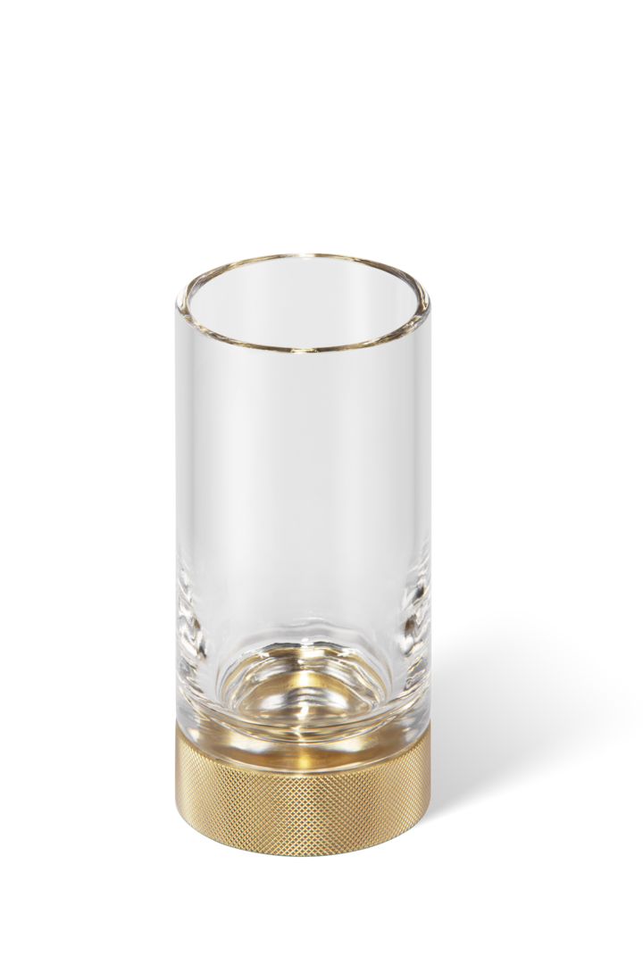 Tumbler - Toothbrush Holder Club SMG Glass - Matte Gold